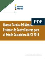 Manual Técnico Del Modelo Estándar de Control Interno Para El Estado Colombiano MECI 2014