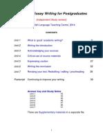 Academic Essay Writing for Postgraduates Aewpg Ismaterials