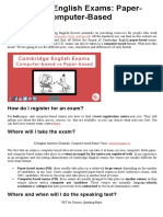 Cambridge English Exams Paper-Based vs Computer-Based