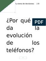 Por Qué Se Da La Evolución de Los Teléfonos