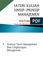Materi Kuliah Prinsip-prinsip Manajemen Pertemuan Ke 2