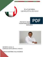 PLATAFORMA LEGISLATIVA 2013 BUENA