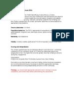 Tinetti Falls Efficacy Scale (FES)
