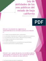 Ley de Responsabilidades de Los Servidores Públicos Del