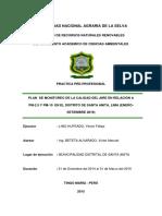 Plan de Monitoreo de La Calidad Del Aire en Relacion a Pm-2.5 y Pm-10 en El Distrito de Santa Anita, Lima(Enero-septiembre 2016)