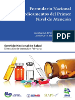 Formulario Nacional de Medicamentos (Rep. Dom) 30 Agosto 2016