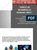 Indice de Desarrollo Humano Idh