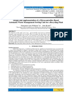 Design and Implementation of a Microcontroller-Based Automatic Waste Management Sorting Unit for a Recycling Plant