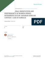 Performance - Entrepreneurial Orientation and Performance of Women Entrepreneurs_ali Yassin