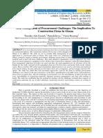 Risk Management of Procurement Challenges