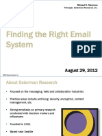 Osterman Research FindingTheRightEmailSystem