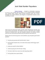 Tanaman Untuk Obat Kanker Payudara
