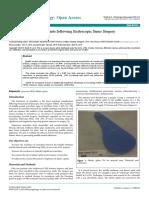 Evaluation of Silastic Splints Following Endoscopic Sinus Surgery 2161 119X 1000233