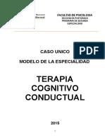 Caso Unico de Modelo Cognitivo Conductual 2015
