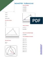 For Practice Trigonometric Formulas