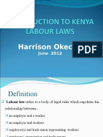 Introduction to Kenya Labour Laws