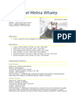 CV Isabel Melina Whaley