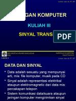 Jarkom III-Sinyal Transmisi