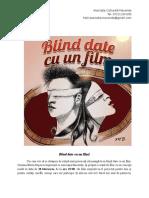 Blind Date Cu Un Film- Comunicat