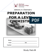 Chemistry A Level Revision