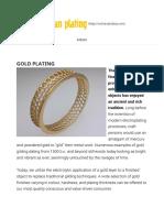 Artisan Plating »Gold Plating • Artisan Plating »