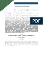 Fisco e Diritto - Corte Di Cassazione n 259 2010