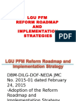 Lgu Pfm Reform Roadmap and Implementation Strategies