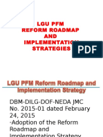 Lgu Pfm Reform Roadmap and Implementation Strategies