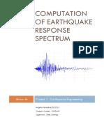 computation of earthquake response spectrum