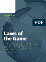 Laws of the Game 2016 17