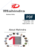 Business Policy of Mahindra
