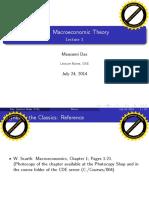 Das(DSE), Classical vs Keynesian