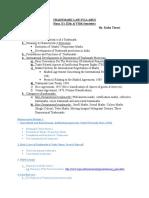 Trademark Law Syllabus Reading Ref.