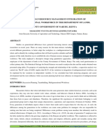 ROLE OF HUMAN RESOURCE MANAGERS IN INTEGRATION OF MULTIGENERATIONAL WORKFORCE IN THE DEPARTMENT OF LANDS, COUNTY GOVERNMENT OF NAKURU, KENYA