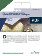 Coface Panorama Maroc l'Économie Ralentit, Les Délais de Paiement s'Allongent