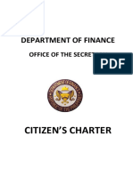 Department of Finance - Citizens Charter