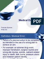 Medical Errors Symons Ppt 2008