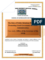 PR Practice Promote Good Governance in Public Administration