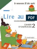 Lire Au CP_ Le Nouveau Fil Des Mots_ Cahier D_exercices - 2 (1991) - Nathan