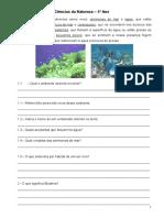 Ciências Naturais - Teste Diagnóstico - 5º Ano