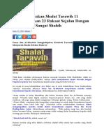 Umar Melakukan Shalat Tarawih 11 Rakaat.docx