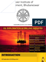 (XIMB) Sustainability - Oil Drilling & Exploration Industry