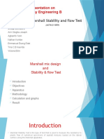 Marshal Stability Test