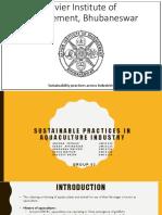 (XIMB) Sustainability - Aquaculture Industry