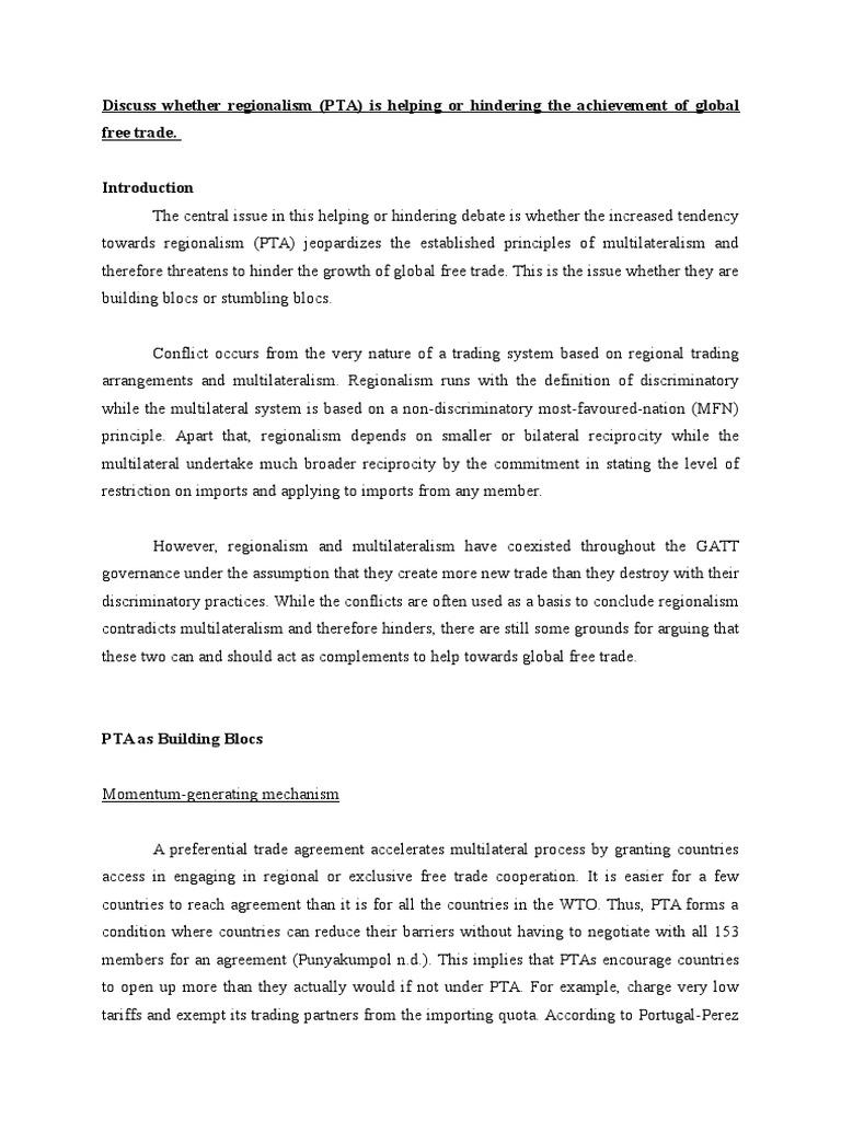 Pta Building Global Business Organization Trade