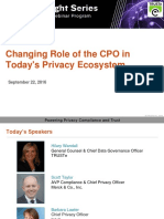 Changing Role of the CPO in Today's Privacy Ecosystem | TRUSTe Webinar