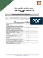 Formato Evaluacion Simulacro 2011