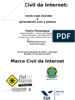 Marco Civil Da Internet - Pedro Paranagua