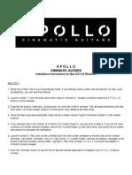 Apollo Cinematic Guitars - Install Instructions
