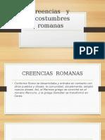 Costumbres y Creencias Romanas